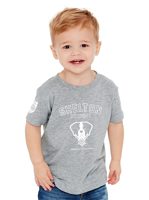 Shelton Academy - Gray Barry Toddler Tee