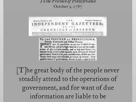The Anti-Federalist Papers: Centinel I
