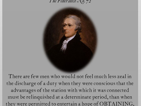 The Federalist Papers: No. 72