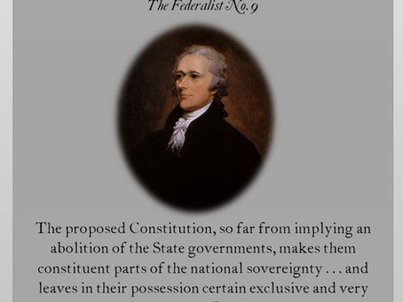 The Federalist Papers: No. 9