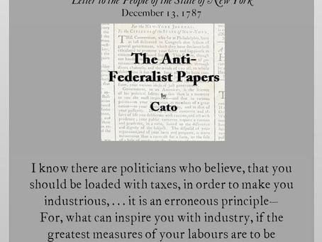 The Anti-Federalist Papers: Cato VI