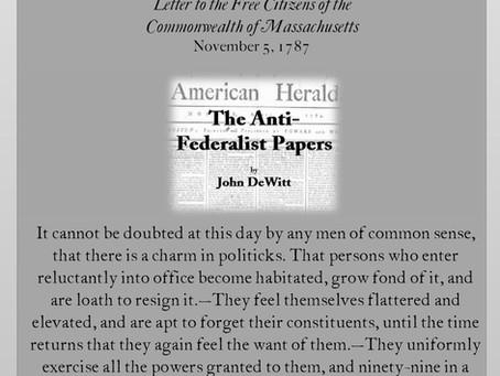 The Anti-Federalist Papers: John DeWitt III