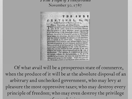 The Anti-Federalist Papers: Centinel IV