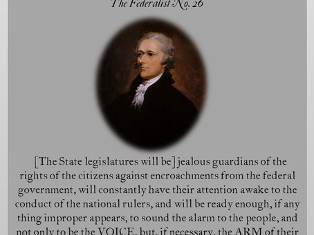 The Federalist Papers: No. 26