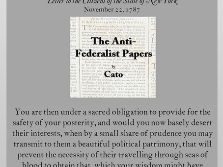 The Anti-Federalist Papers: Cato V