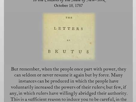 The Anti-Federalist Papers: Brutus I