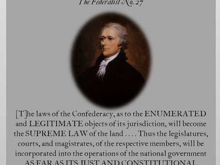 The Federalist Papers: No. 27