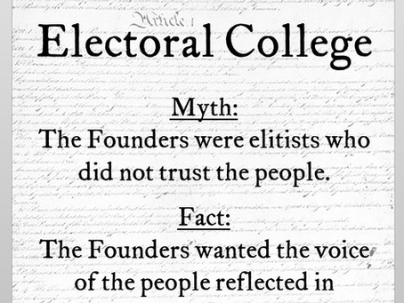 Electoral College Myth #2: The Founders did not trust the people