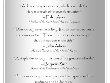 """This Day in History: """"Democracy is a volcano"""""""