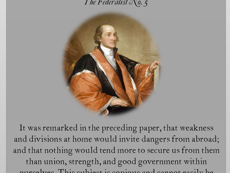 The Federalist Papers: No. 5
