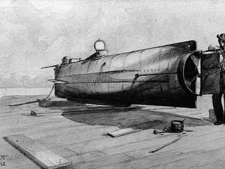 This Day in History: A Confederate submarine torpedoes and sinks USS Housatonic