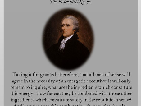 The Federalist Papers: No. 70