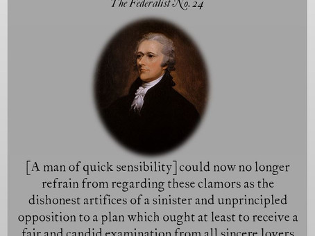 The Federalist Papers: No. 24