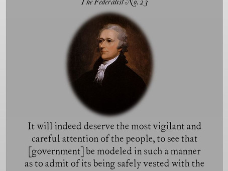 The Federalist Papers: No. 23