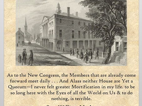 This Day in History: A bumpy opening for the First Congress