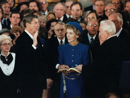 This Day in History: The Odd Timing of Ronald Reagan's Second Inauguration