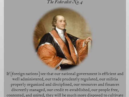 The Federalist Papers: No. 4