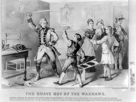 This Day in History: Future President Andrew Jackson is captured by the British