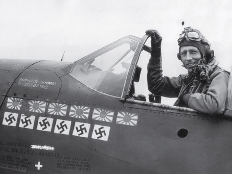 """This Day in History: The so-called """"One-Man Air Force,"""" Major James Howard"""
