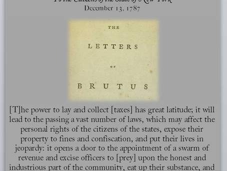The Anti-Federalist Papers: Brutus V