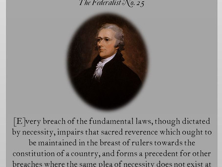 The Federalist Papers No. 25