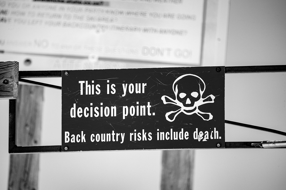 A sign about decisions
