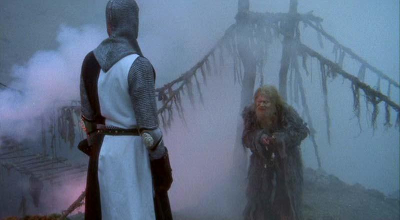 The Bridge of Death from Monty Python