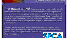 SPCA of Solano County Pet Loss Support Group