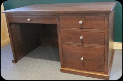 Caralona Desk with 1 Pedestal