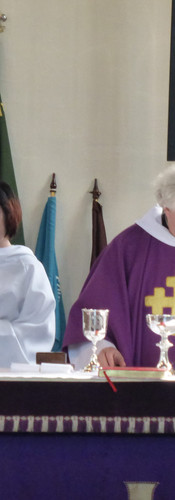 Mark at the altar