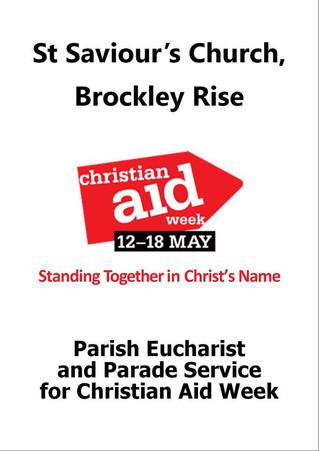Parish Eucharist For Christian Aid Week