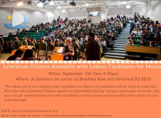 Lewisham Citizens Assembly @ St Saviours