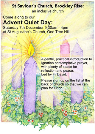 Advent Quiet Day- Sat 7th December @ St Augustine's Church. 9.30am- 4pm