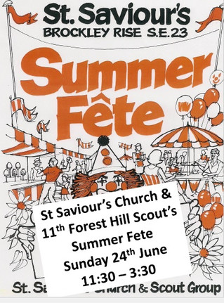 11th Forest Hill Scout Group & St Saviour's Church Summer Fete
