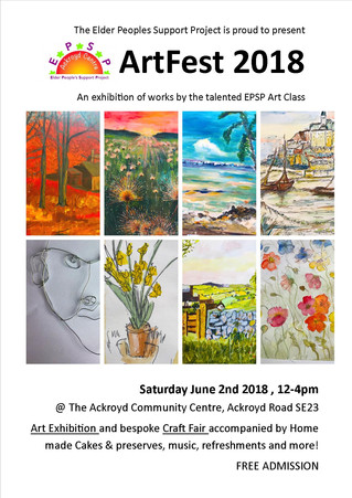 Art Fest @ The Ackroyd Community Centre, Saturday 2nd June 12-4pm