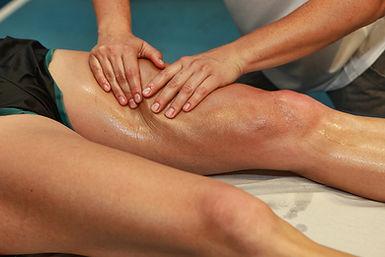 Adjust , massage, exercise, manipulate knees
