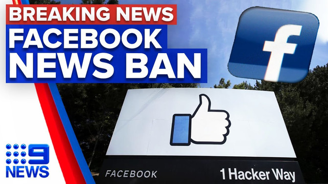 Facebook bans News; Realty network surges.