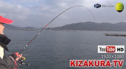 年中釣れるカキ筏で全層釣法