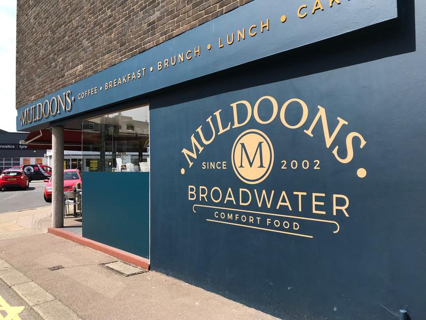 Muldoons Sign Written Wall