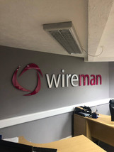 Interior Stand off Lettering for Wireman