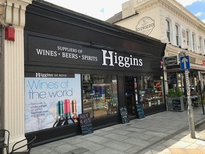 Higgins Wines Fascia
