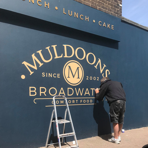 Sign Writing the wall