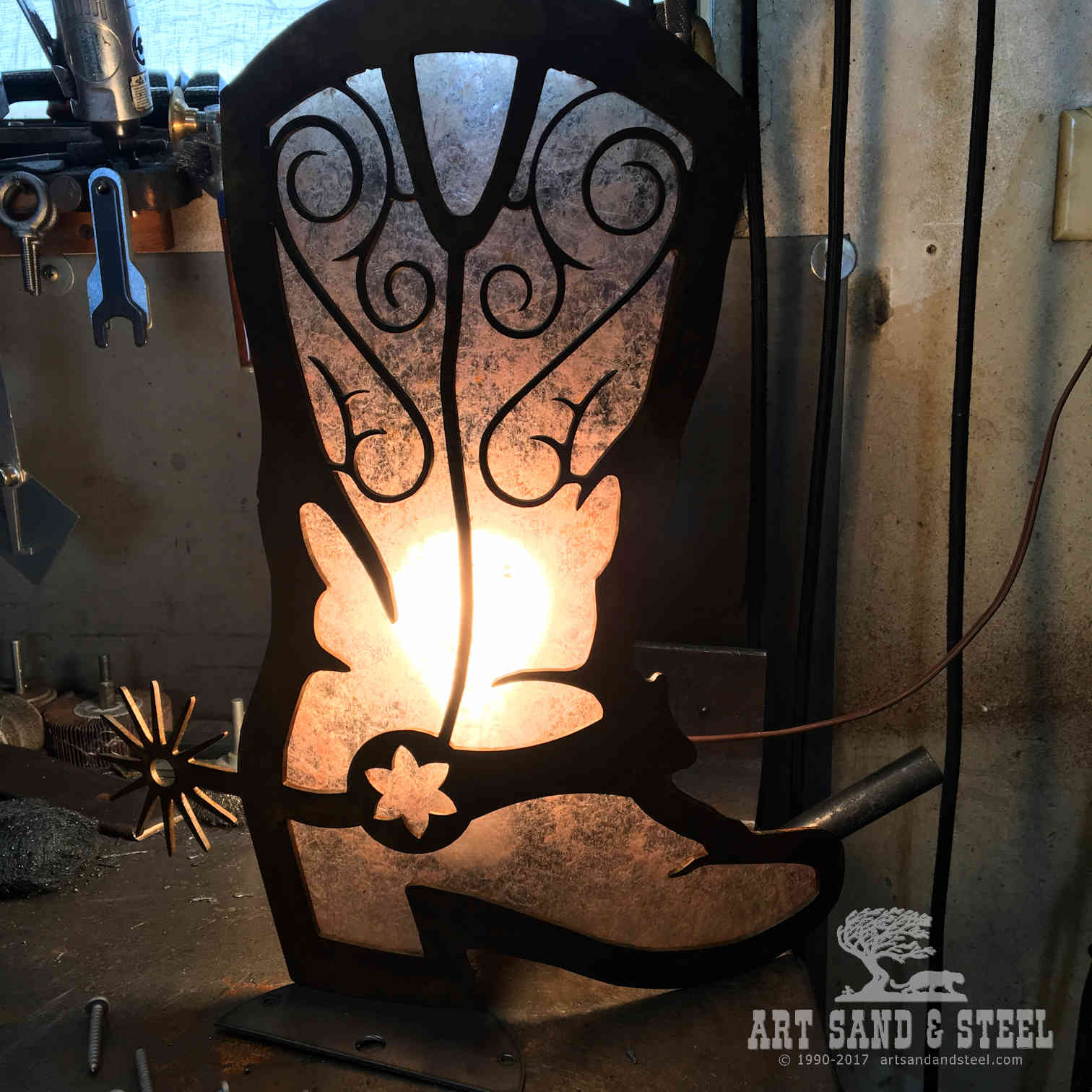 Boot Sconce