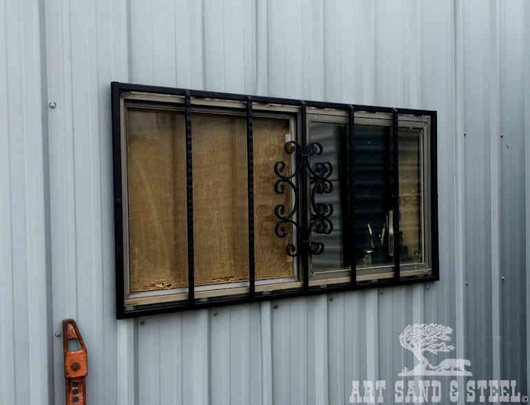 Art Sand Steel Window