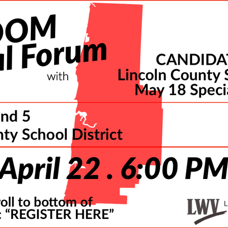 Virtual Special Election Candidate Forums by Ruth Kistler