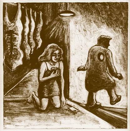 """Monotype """"Le cœur du boucher"""""""