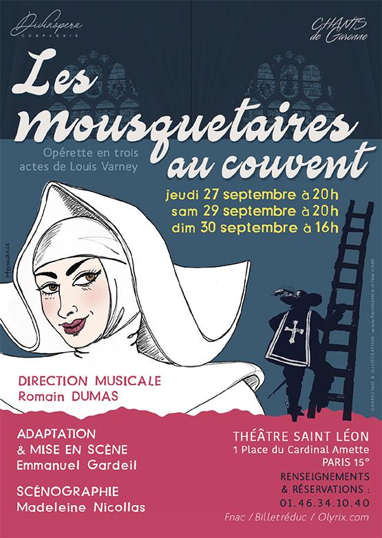 Affiche Mousquetaires au couvent