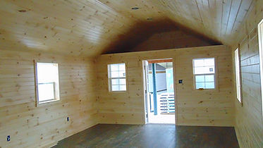 finished interior of a Wunderbar Structures recreational cabin