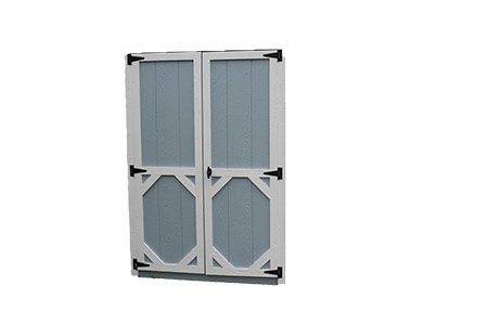 Standard wooden shed doors