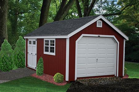 Painted Single Garage 1